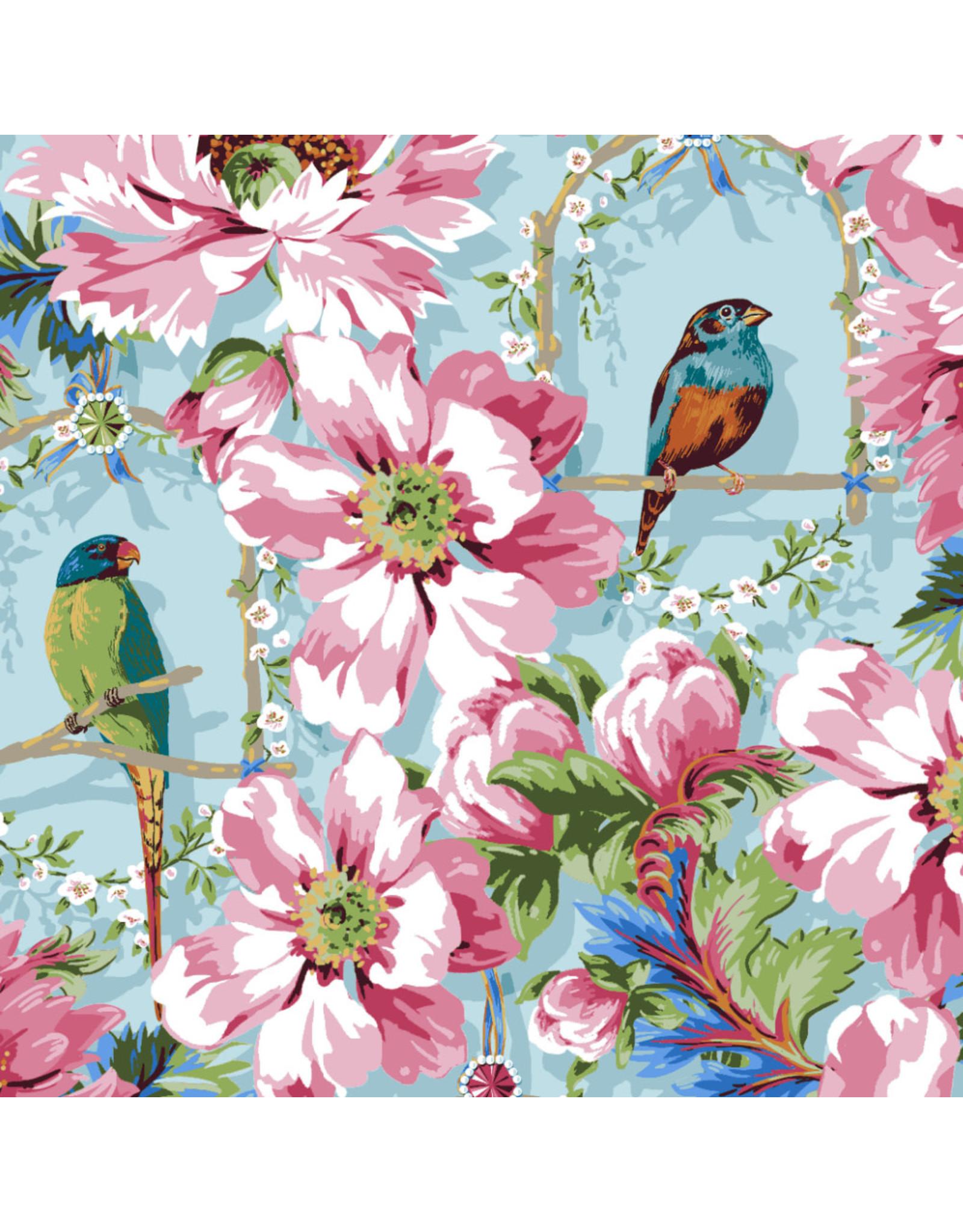 Odile Bailloeul Jardin de la Reine, The Queen's Musicians in Sky, Fabric Half-Yards