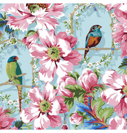Odile Bailloeul Jardin de la Reine, The Queen's Musicians in Sky, Fabric Half-Yards