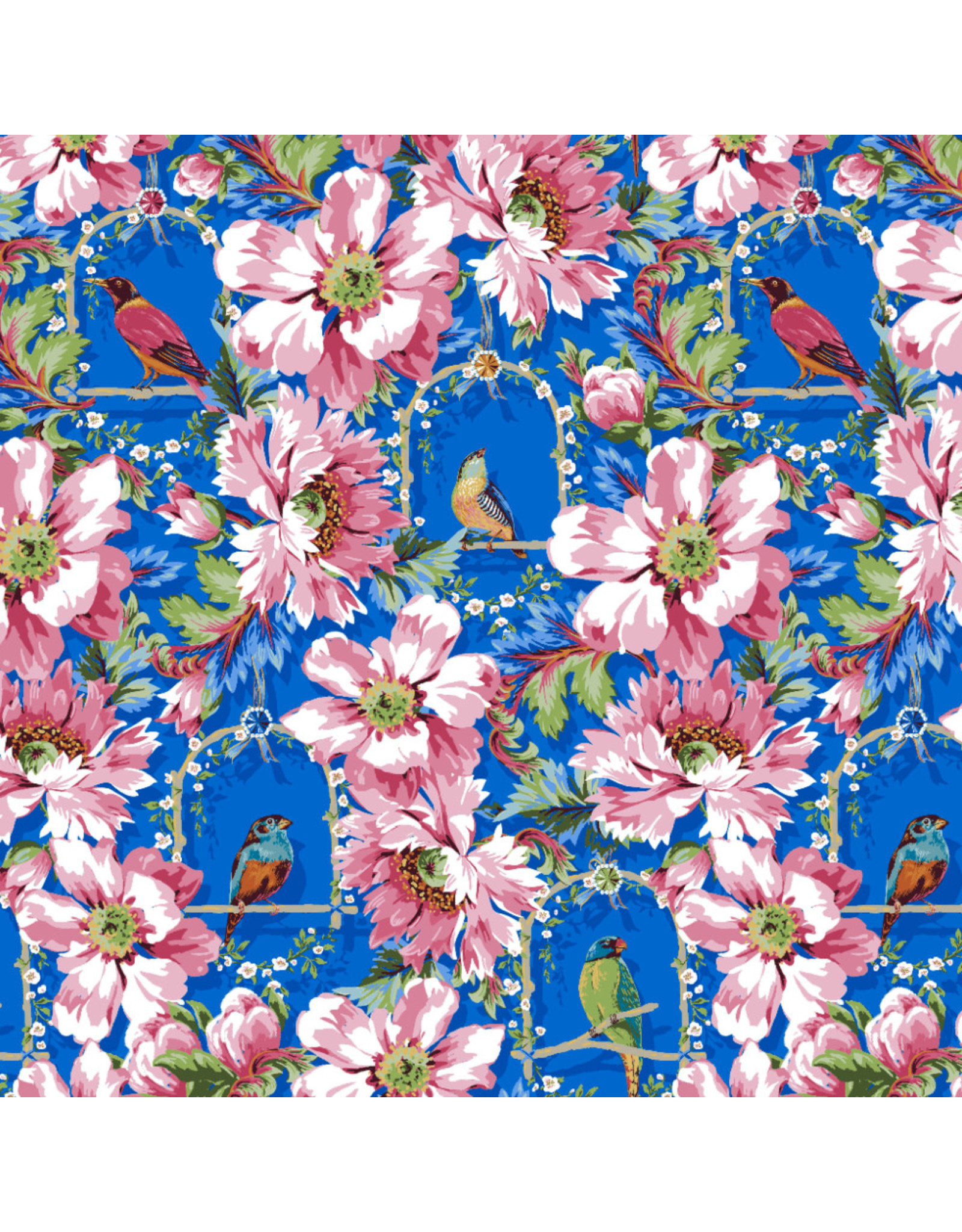 Odile Bailloeul Jardin de la Reine, The Queen's Musicians Small in Royal, Fabric Half-Yards