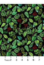 PD's August Wren Collection Paradise Found, Leaves in Green, Dinner Napkin