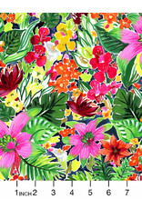 PD's August Wren Collection Paradise Found, Jungle Floral in Multi, Dinner Napkin