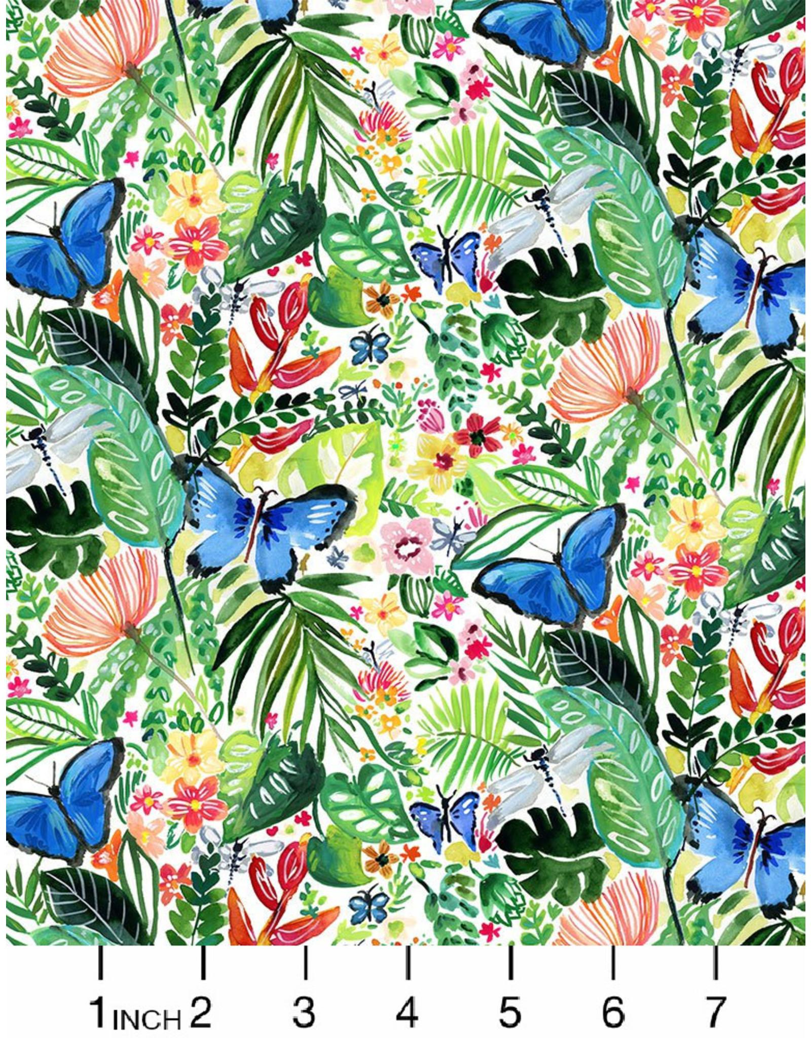 August Wren Paradise Found, Butterflies in Multi, Fabric Half-Yards