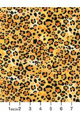 August Wren Paradise Found, Leopard Skin in Gold, Fabric Half-Yards