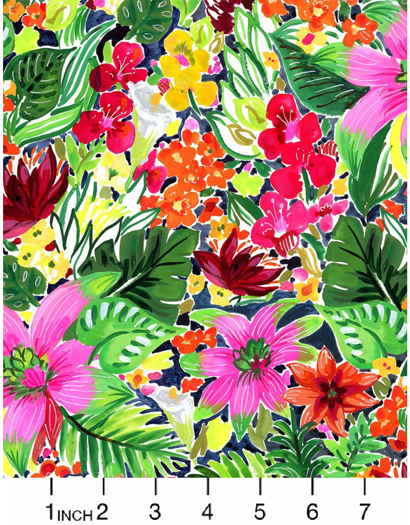 August Wren Paradise Found, Jungle Floral in Multi, Fabric Half-Yards
