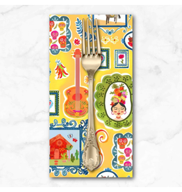 PD's Michael Miller Collection La Vida Loca, Casita in Gold, Dinner Napkin