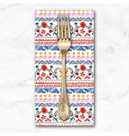 PD's Michael Miller Collection La Vida Loca, Siesta Stripe in White, Dinner Napkin