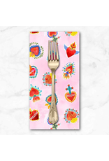 PD's Michael Miller Collection La Vida Loca, Sacred Heart in Pink, Dinner Napkin