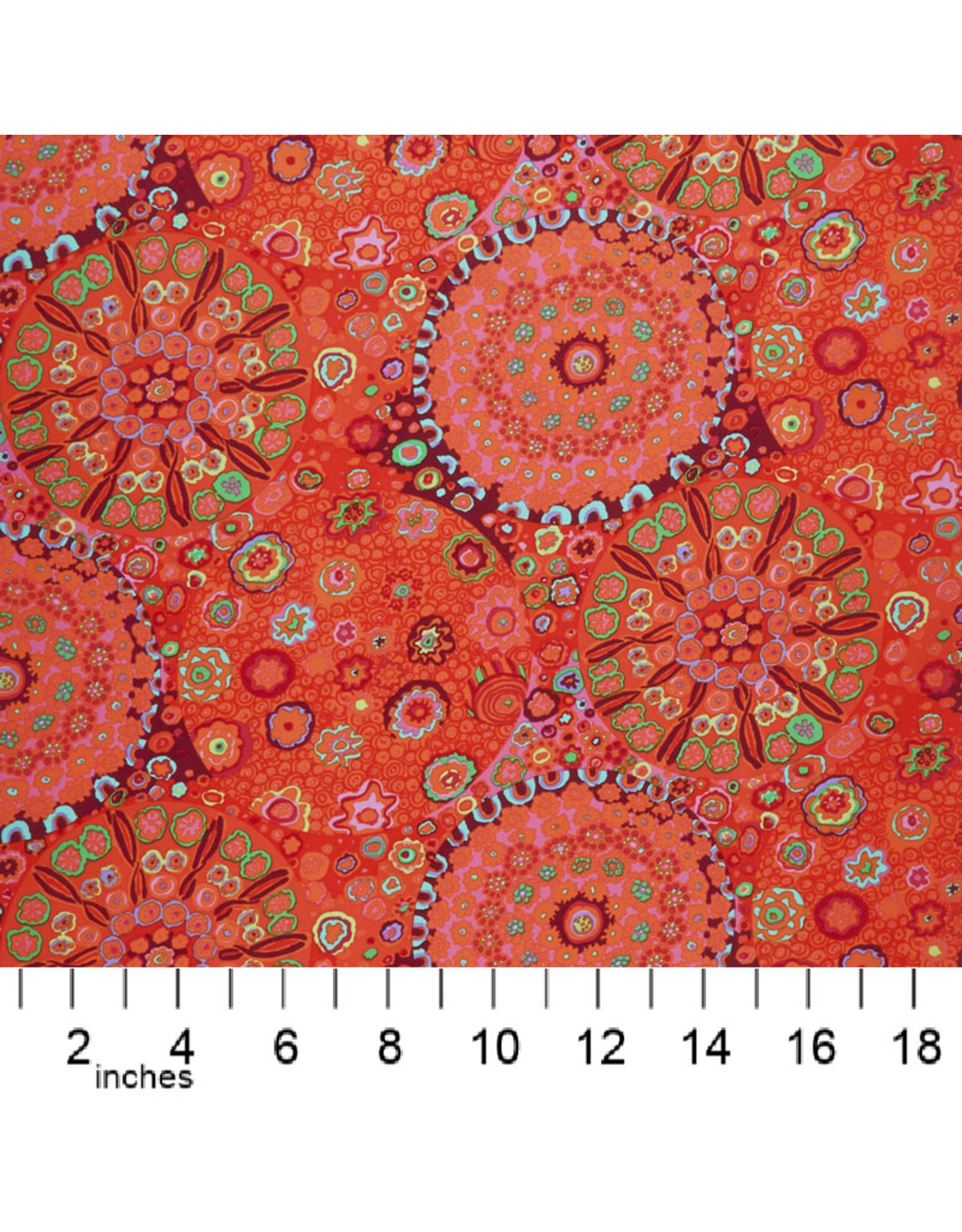 PD's Kaffe Fassett Collection Kaffe Collective Collective, Millefiore in Tomato, Dinner Napkin