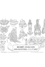 Sublime Stitching Big Sheets Embroidery Transfers, Kyle Martz Designs