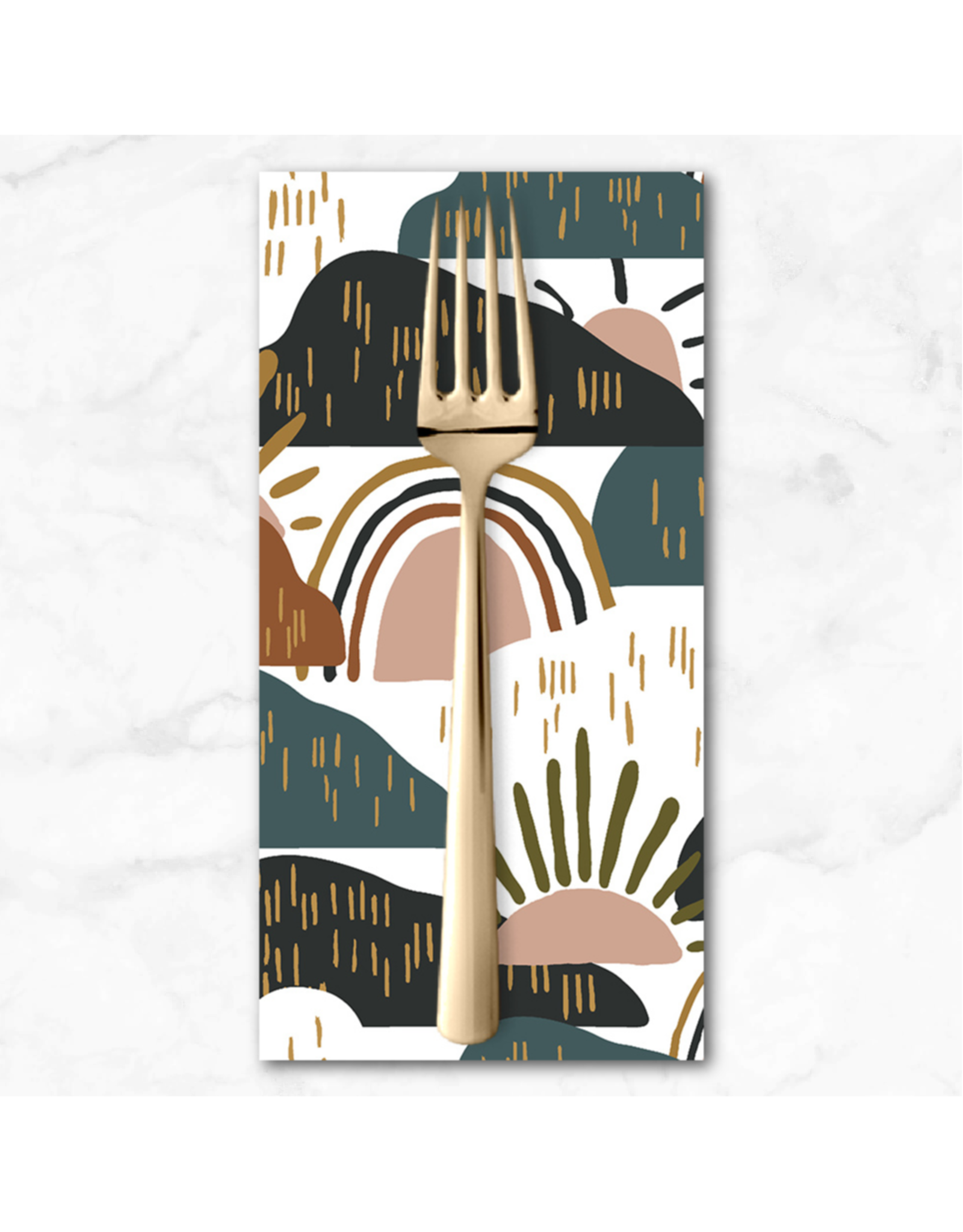 PD's Cotton + Steel Collection Dear Isla, Hilltop in Forest, Dinner Napkin