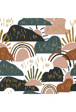 Cotton + Steel Dear Isla, Hilltop in Forest, Fabric Half-Yards