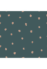 Cotton + Steel Dear Isla, Posies in Hunter Green, Fabric Half-Yards