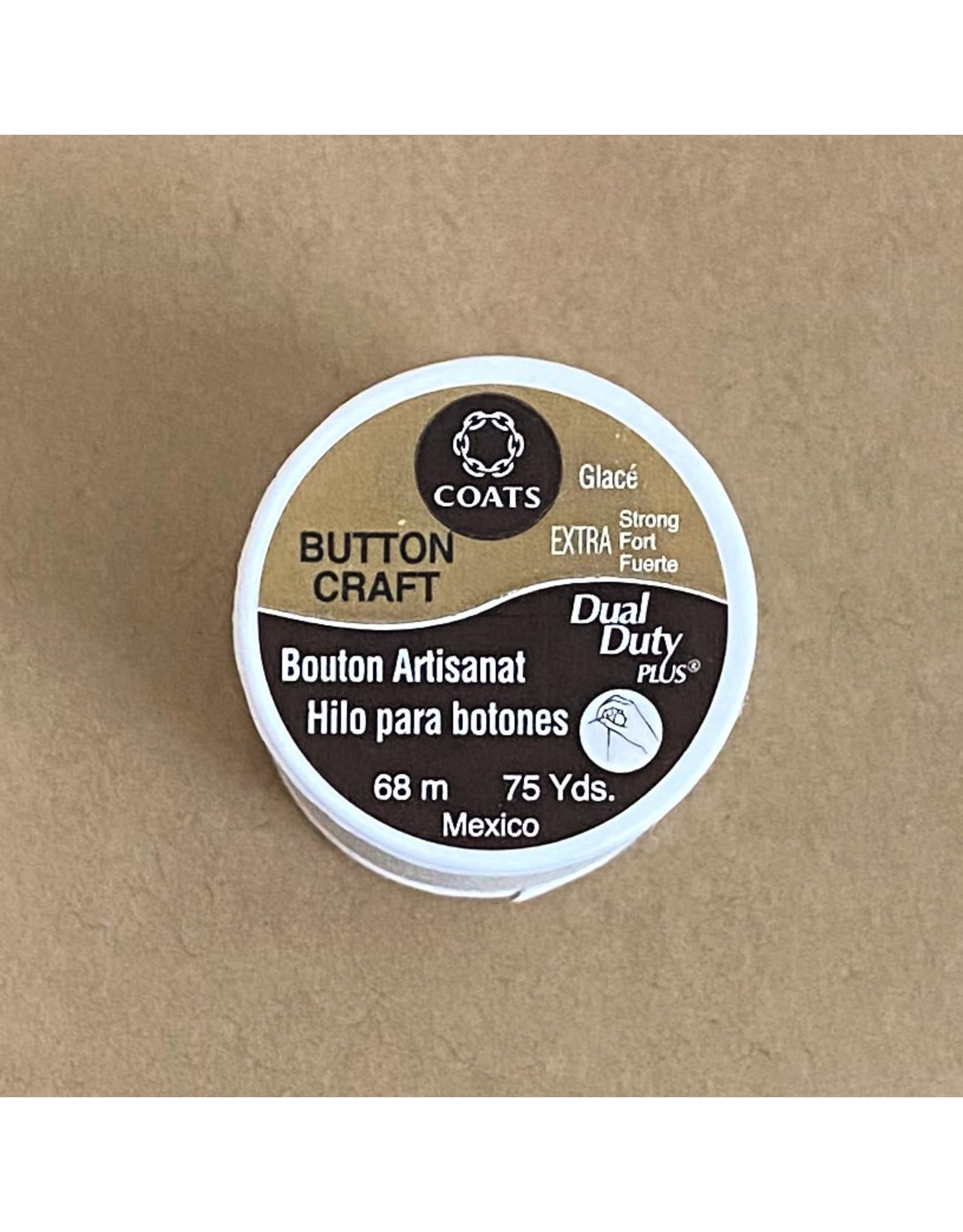 Coats & Clark Button Craft Thread, Dual Duty Plus, Color: Cream