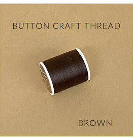 Coats & Clark Button Craft Thread, Dual Duty Plus, Color: Brown