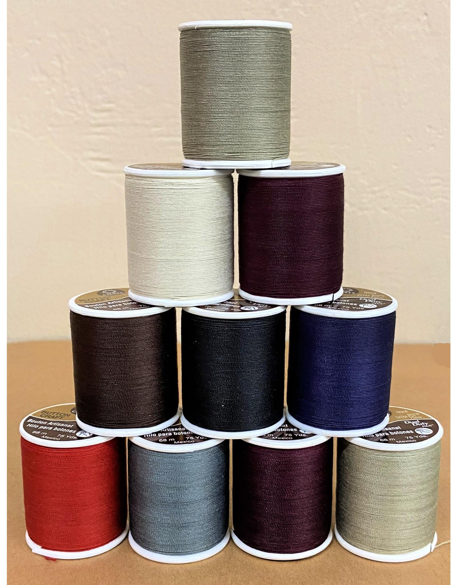Coats & Clark Button Craft Thread, Dual Duty Plus, Color: Brown