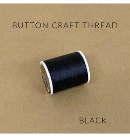Coats & Clark Button Craft Thread, Dual Duty Plus, Color: Black