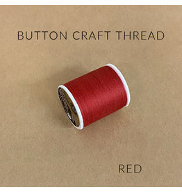Coats & Clark Button Craft Thread, Dual Duty Plus, Color: Red