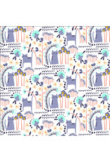 Cotton + Steel Glory, Elsies Cat in Summer Daze, Fabric Half-Yards
