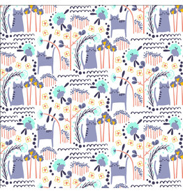 Cotton + Steel Glory, Elsies Cat in Summer Daze, Fabric Half-Yards