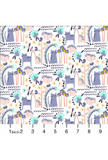 PD's Cotton + Steel Collection Glory, Elsies Cat in Summer Daze, Dinner Napkin