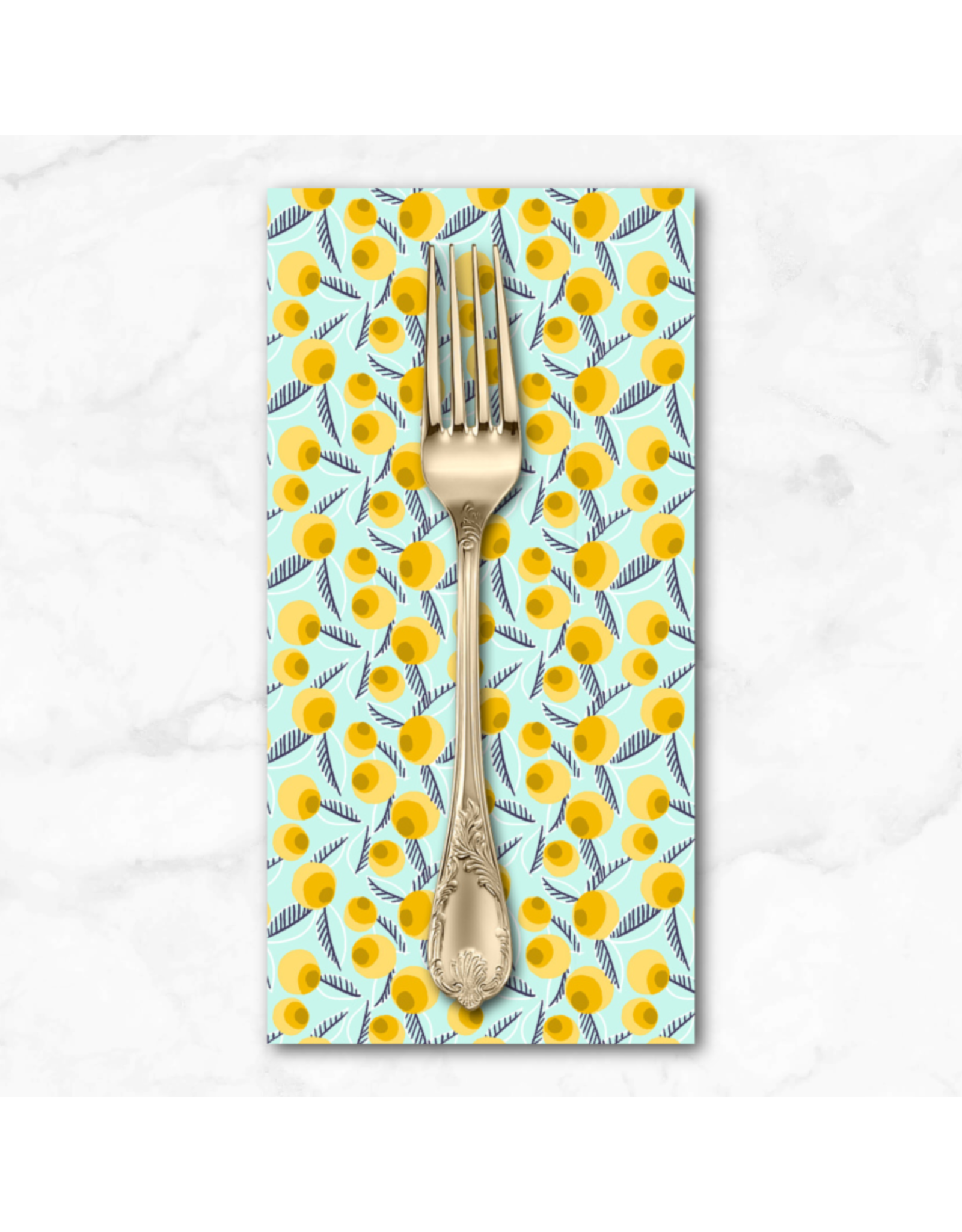 PD's Cotton + Steel Collection Glory, Betty Jean in Teal, Dinner Napkin