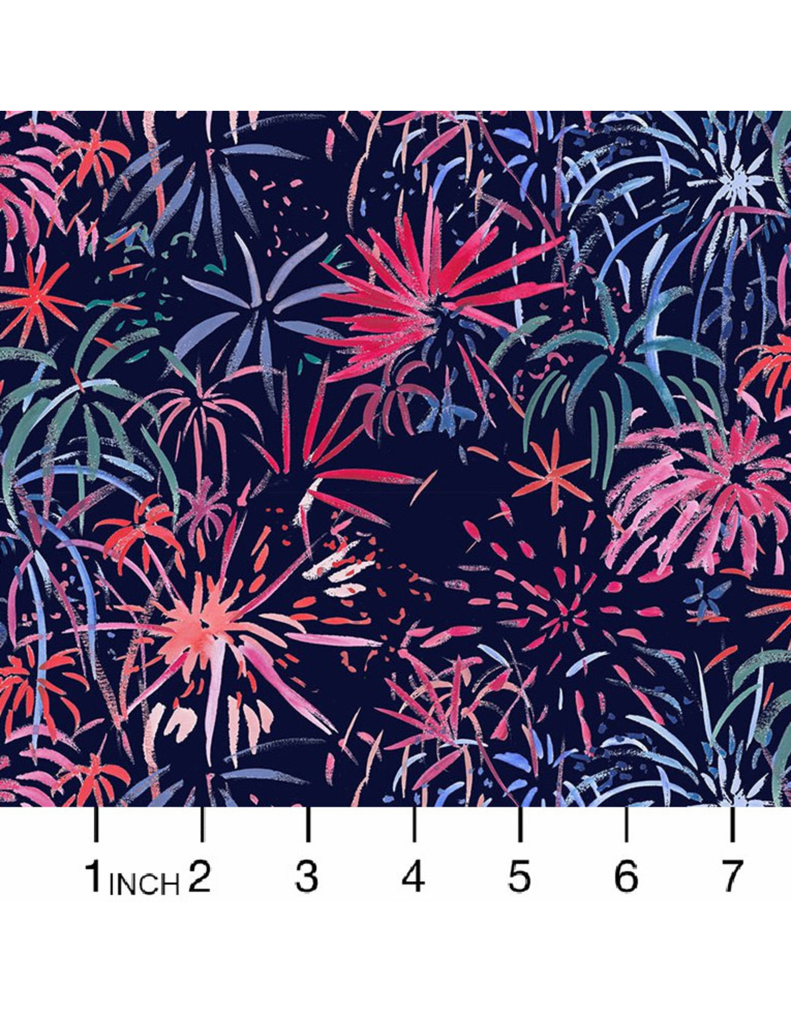 Dear Stella American Summer, Fireworks in Multi, Fabric Half-Yards