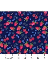 PD's Dear Stella Collection American Summer, Berry Picking in Multi, Dinner Napkin
