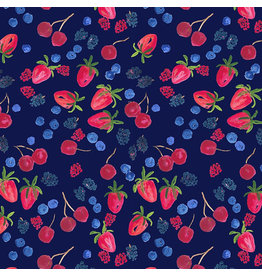 Dear Stella American Summer, Berry Picking in Multi, Fabric Half-Yards