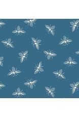 Renee Nanneman French Bee in Ocean, Fabric Half-Yards