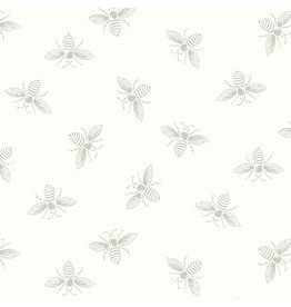 Renee Nanneman French Bee in White Wisp, Fabric Half-Yards