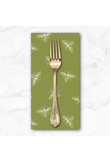 PD's Andover Collection French Bee in Olivette, Dinner Napkin