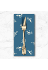 PD's Andover Collection French Bee in Ocean, Dinner Napkin