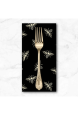 PD's Andover Collection French Bee in Black Ink, Dinner Napkin