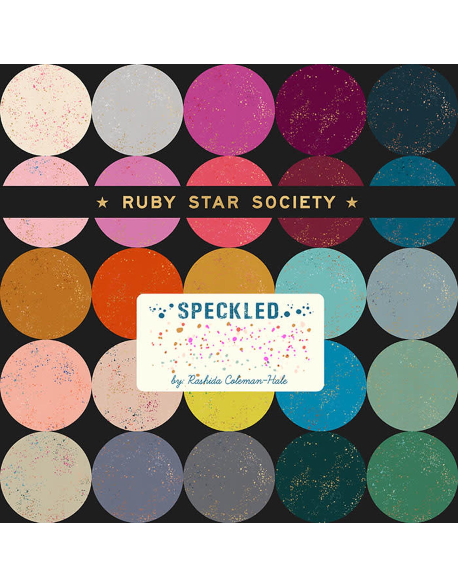 "Rashida Coleman-Hale Speckled, 5""x5"" Charm Pack, 42 pcs."