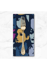 PD's Alexander Henry Collection Nicole's Prints, In Crowd in Blueberry, Dinner Napkin
