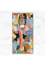 PD's Alexander Henry Collection Nicole's Prints, Stronger Together in Bright, Dinner Napkin