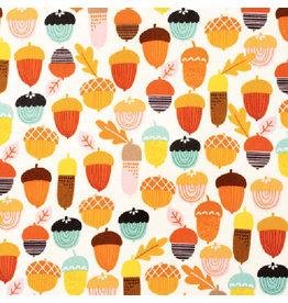Alexander Henry Fabrics Fall Harvest, Autumn Acorn in Multi, Fabric Half-Yards