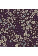 """Frou-Frou, France Bias Tape, Fleuri in Violet, 3/4"""" Double Fold, sold by the 1/2 yard"""