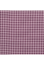 """Frou-Frou, France Bias Tape, Plaid in Plum, 3/4"""" Double Fold, sold by the 1/2 yard"""