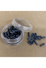 PD Glass Bugle Beads, Dark Grey