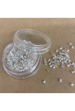 PD Glass Chop Beads, Silver