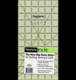 """Omnigrid Omnigrip Non-Slip Ruler 6"""" x 12"""""""