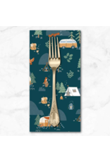 PD's Riley Blake Collection Camp Woodland, Camping in Navy, Dinner Napkin