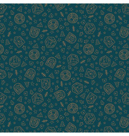 Riley Blake Fabrics Camp Woodland, Scout Badges in Navy, Fabric Half-Yards