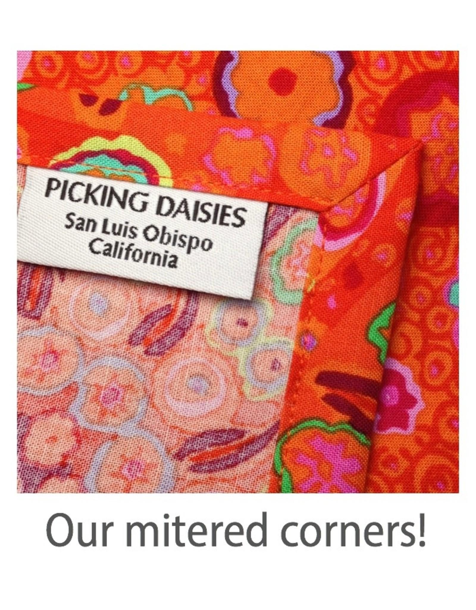 PD's J Wecker Frisch Collection Old Made, Wallflower in Orange, Dinner Napkin