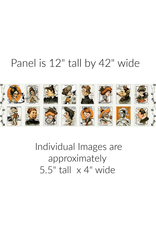 "J. Wecker Frisch Old Made,  Cards, 12"" x 44"" Fabric Panel"