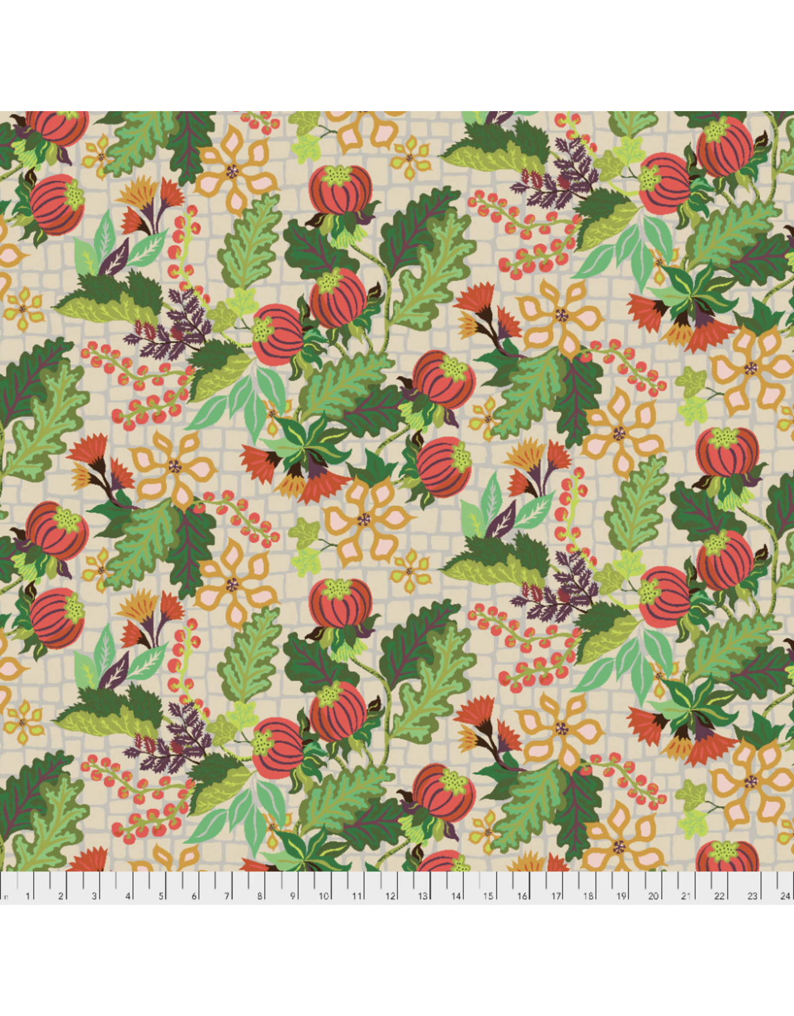 PD's Kathy Doughty Collection Earth Made Paradise, Abundance in Cream, Dinner Napkin