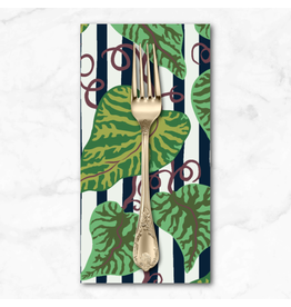 PD's Kathy Doughty Collection Earth Made Paradise, Tropical Leaf in Cool, Dinner Napkin