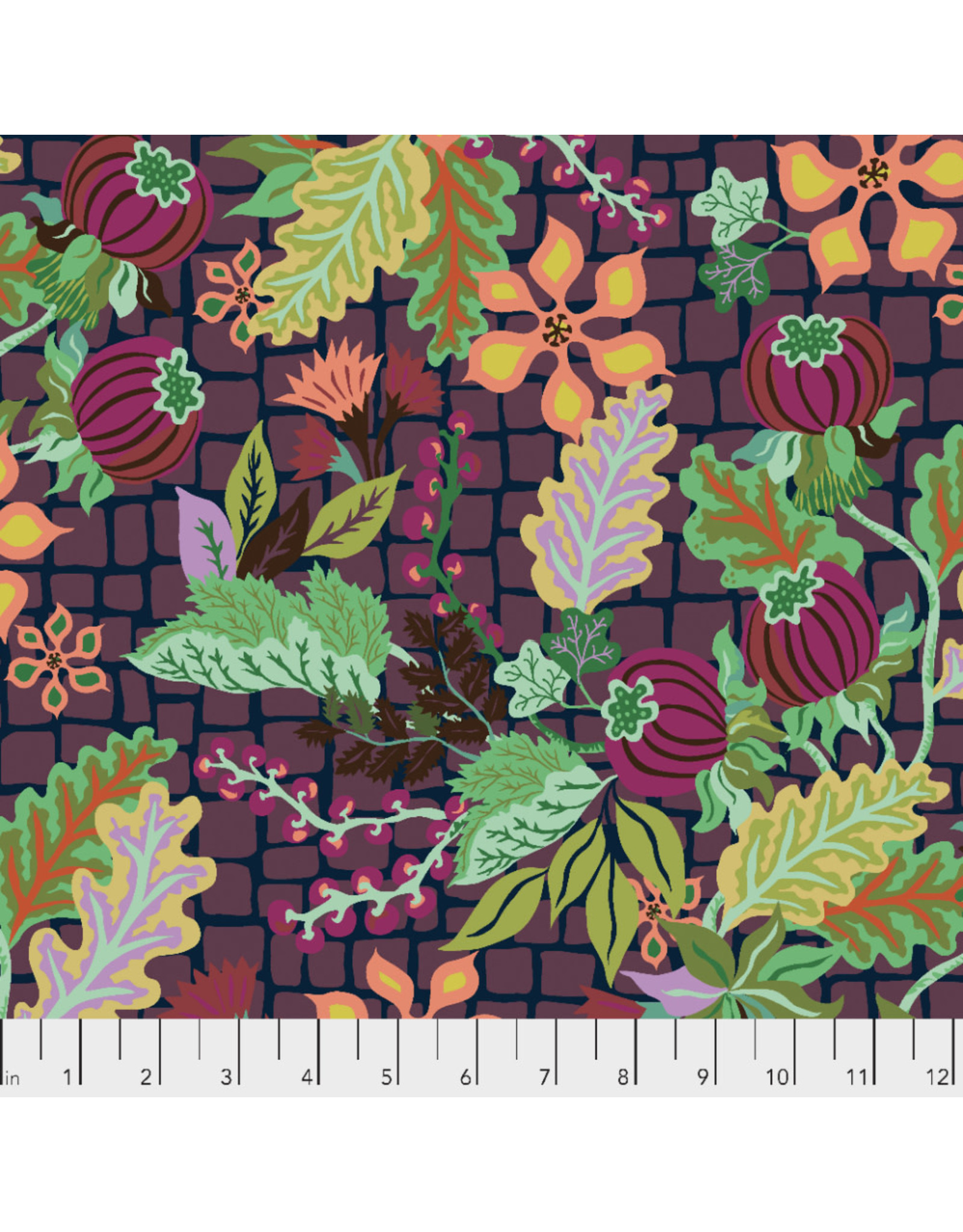 Kathy Doughty Earth Made Paradise, Abundance in Nightfall, Fabric Half-Yards