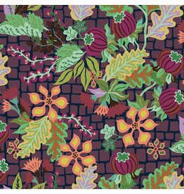 Kathy Doughty Earth Made Paradise, Abundance in Nightfall, Fabric Half-Yards